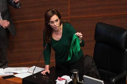 Téllez siempre se posición firmemente contra la legalización del aborto, una de sus principales diferencias con su entonces propio partido, Morena (Foto: Andrea Murcia/ Cuartoscuro)