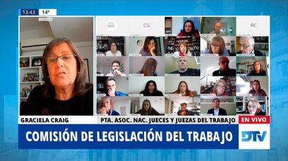 La presidenta de la Asociación Nacional de Jueces y Juezas del Trabajo (ANJUT), Graciela Craig