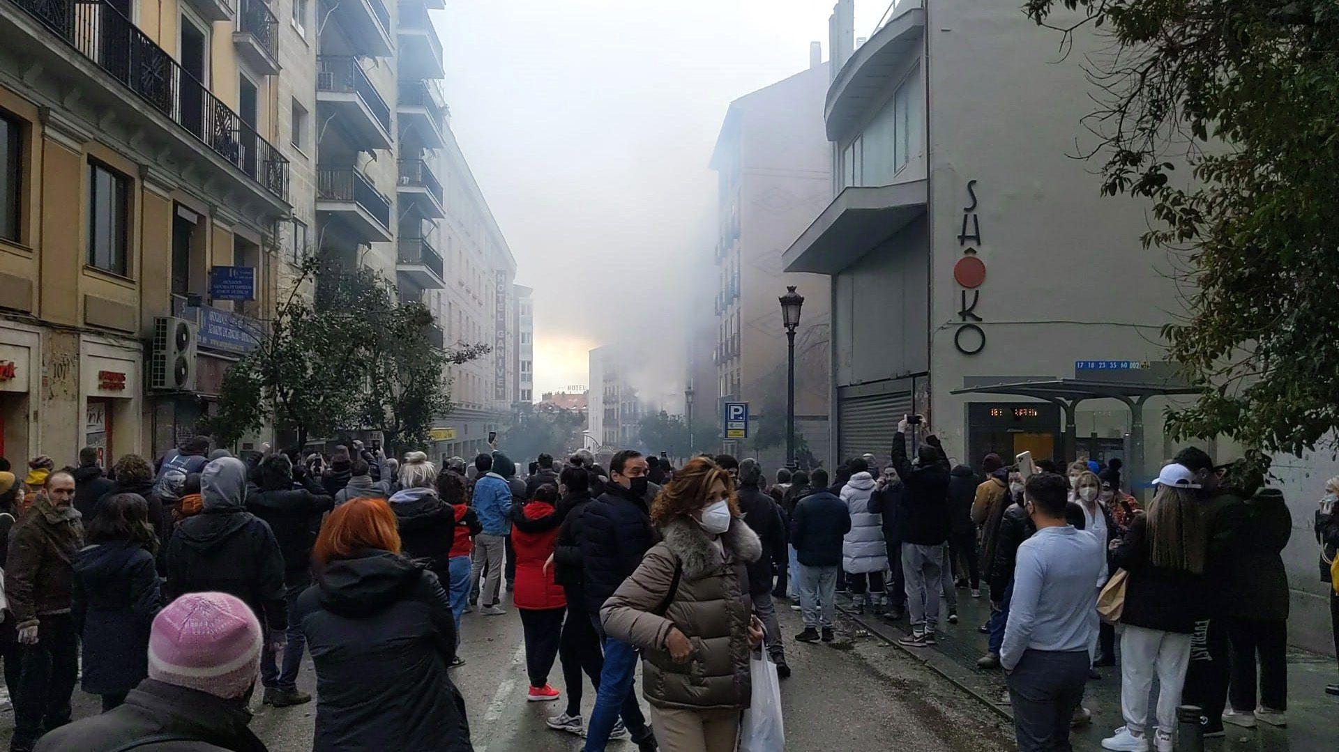 Explosión en el centro de Madrid