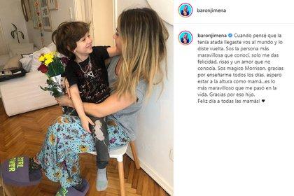 La publicación de Jimena Barón en el Día de la Madre