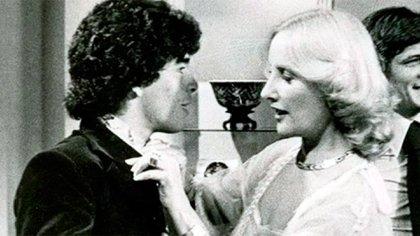 Diego Maradona y Mirtha Legrand