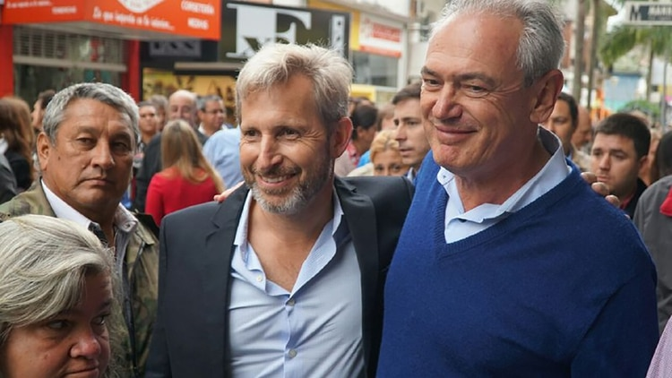 Atilio Benedetti junto al ministro Rogelio Frigerio