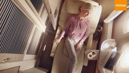 Un avión de Emirates por dentro