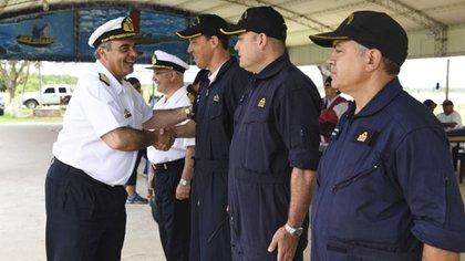 El Contraalmirante López Mazzeo, máximo responsable de las operaciones navales en el momento de la pérdida del submarino