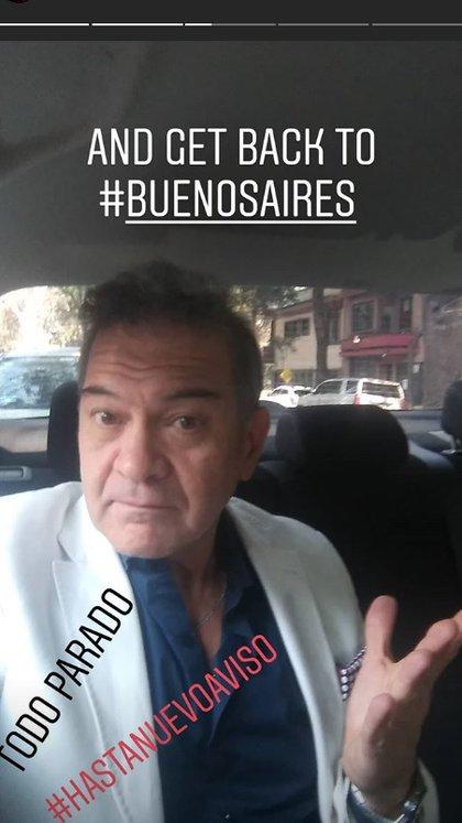 César Bordón también confirmó que se suspendió el rodaje
