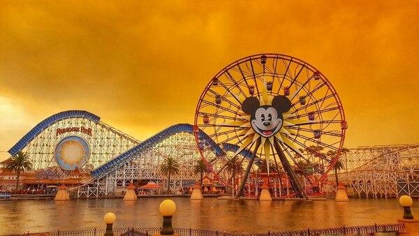 Los incendios cambiaron el paisaje en Disneyland, California (Instagram/Kennya.Boulter)