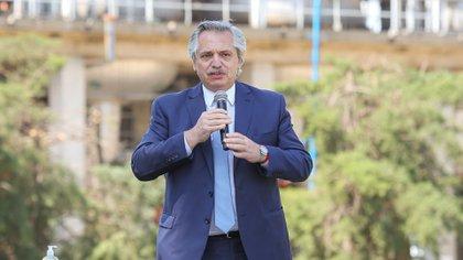 El presidente Alberto Fernández criticó la gestión de Cambiemos
