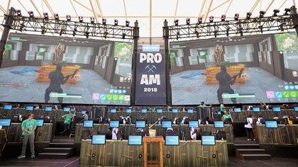 Una de las maratones de Fortnite en streaming (AFP)