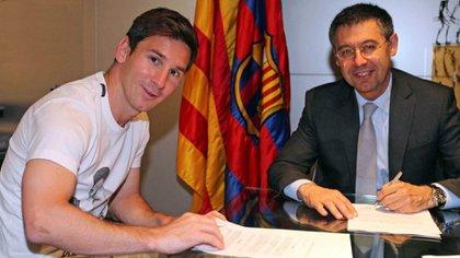 Messi y Bartomeu, en mejores tiempos
