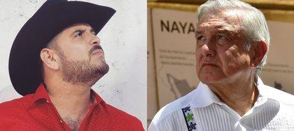 El año pasado se encontró con el presidente López Obrador, con quien se tomó una fotografía, en Culiacán, Sinaloa.  (Foto: Cuartoscuro/Instagram@soyelkomander1)