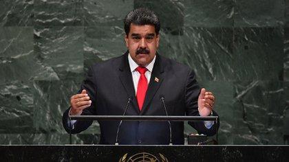 Nicolás Maduro, ante la Asamblea General de la ONU, en septiembre de 2018(AFP)