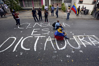 Protestas en Venezuela por la libertad de expresión