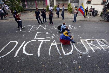 Una protesta contra la censura en Venezuela