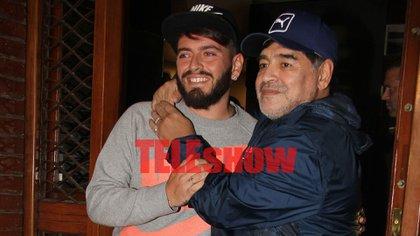 Diego Maradona y Junior (Verónica Guerman / Teleshow)