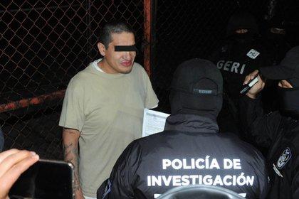 """Oscar Andrés , el """"Lunares"""", líder de la Unión Tepito durante su detención (Foto: Luis Carbayo/cuartoscuro)"""