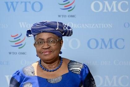 La directora general de la OMC Ngozi Okonjo-Iweala. REUTERS/Denis Balibouse/File Photo