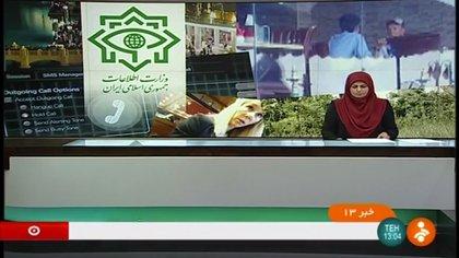 El anuncio de la TV estatal iraní de las condenas contra los supuestos espías