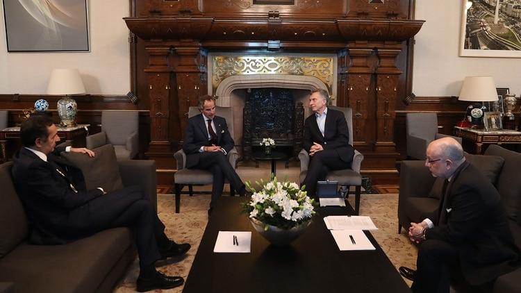 Mauricio Macri recibió en julio en su despacho al embajador Rafael Grossi para ratificar su apoyo.