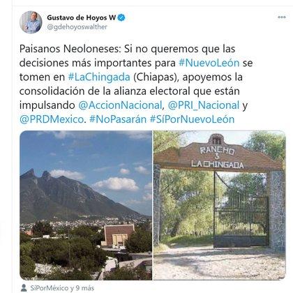 Gustavo de Hoyos promovió la coalición de Sí por México (Foto: @gdehoyoswalther)