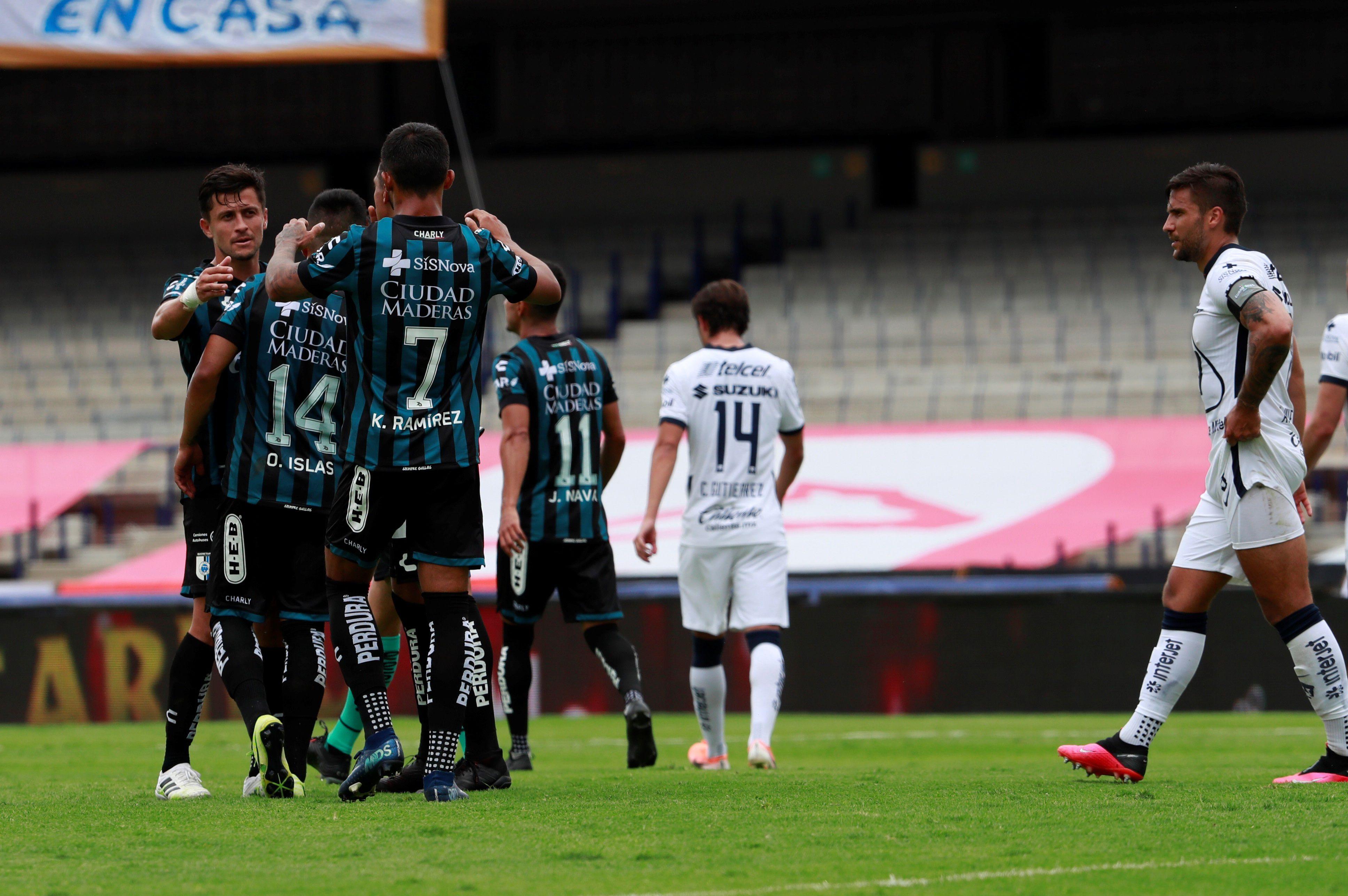 En la imagen jugadores del Querétaro. EFE/Jorge Núñez/Archivo