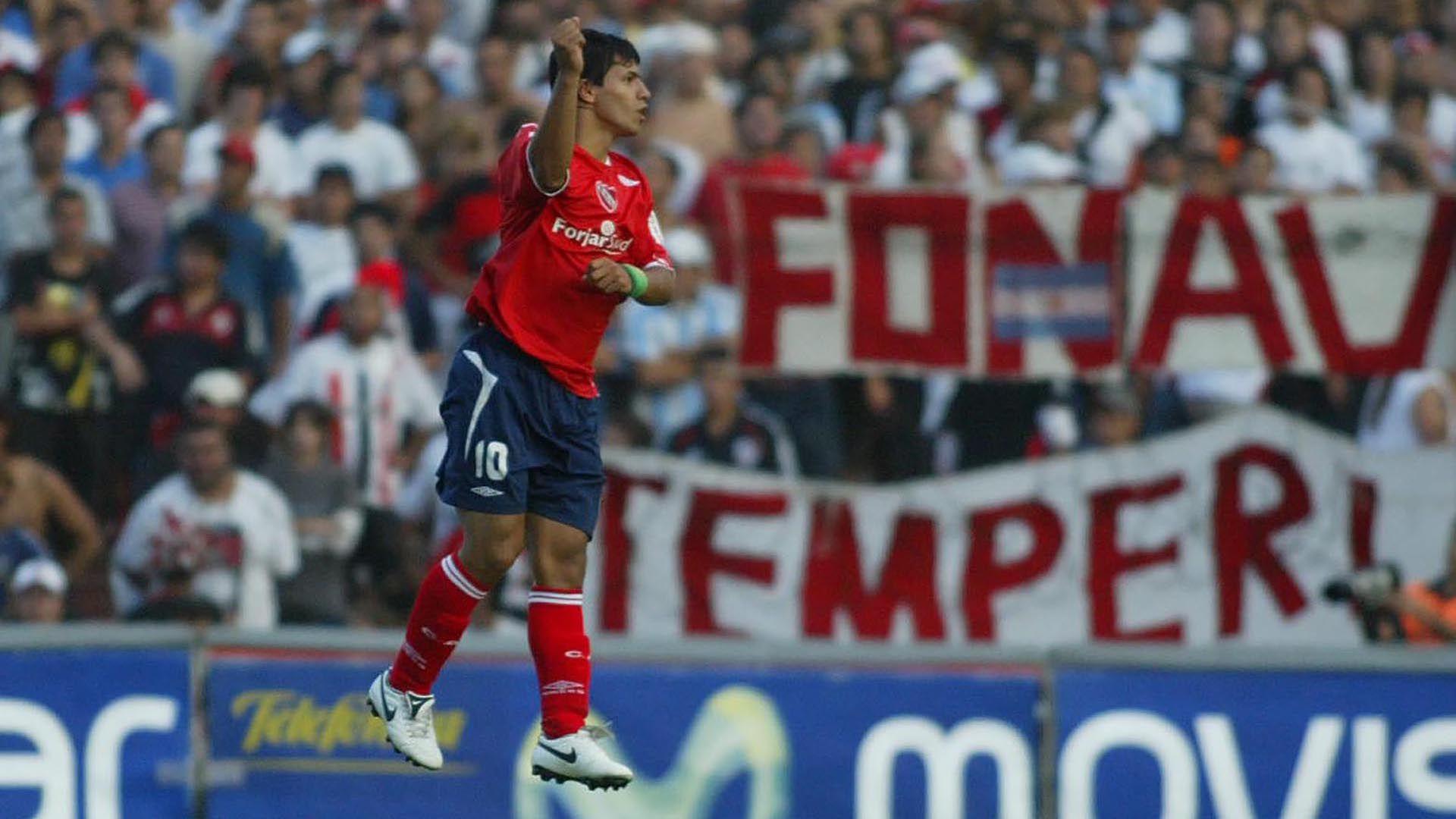Mientras hacía inferiores en Independiente, Agüero fue a probarse a dos clubes (Fotobaires)