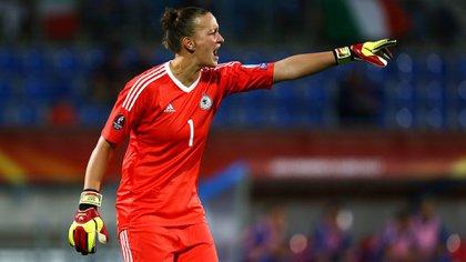 Almuth Schult, la arquera titular de Alemania que defenderá el arco en el Mundial de Francia (Shutterstock)