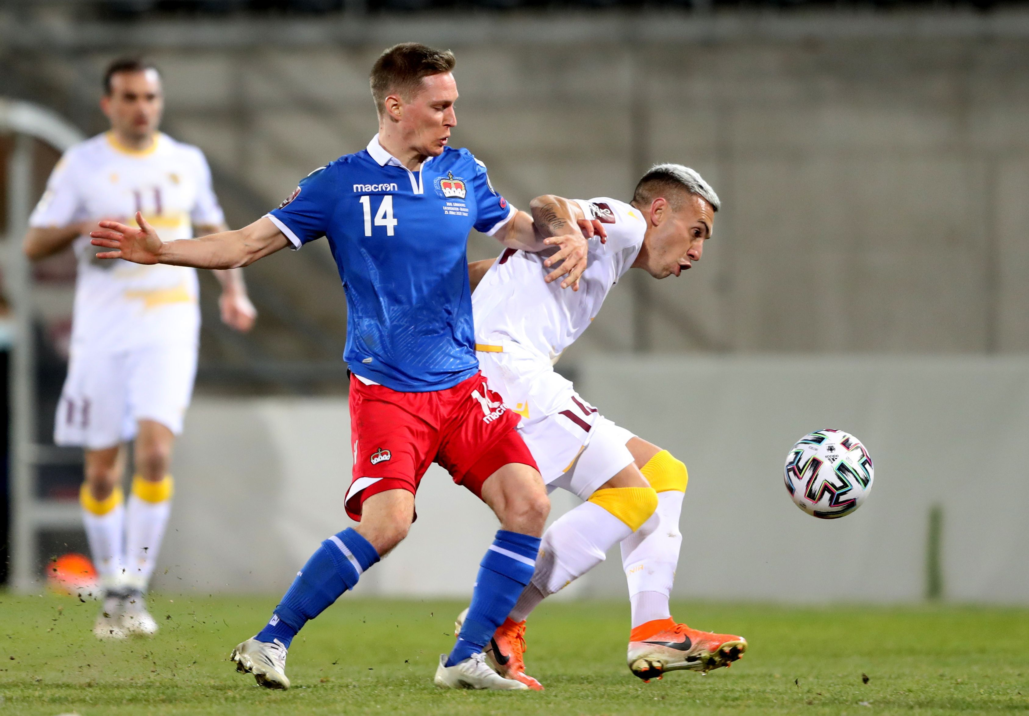 El delantero de Huracán fue una de las figuras en el duelo ante Liechtenstein. Foto: REUTERS/Arnd Wiegmann
