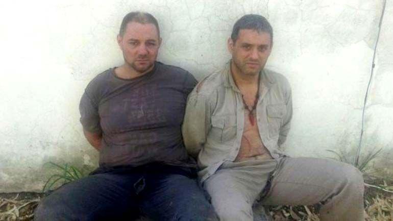 Cristian Lanatta y Víctor Schillacci, cuando fueron detenidos en Santa Fe
