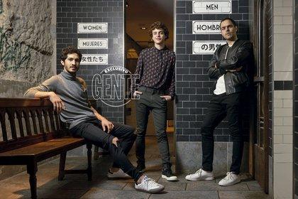 Chino Darin, Lorenzo Toto Ferro y Peter Lanzani (Foto: Fabián Uset/GENTE)