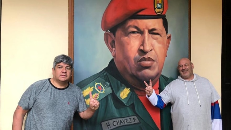 En febrero, Cúneo viajó junto a Pablo Moyano a Caracas para visitar a Nicolás Maduro