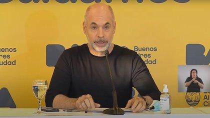 Horacio Rodríguez Larreta anunció las nuevas medidas para la segunda ola