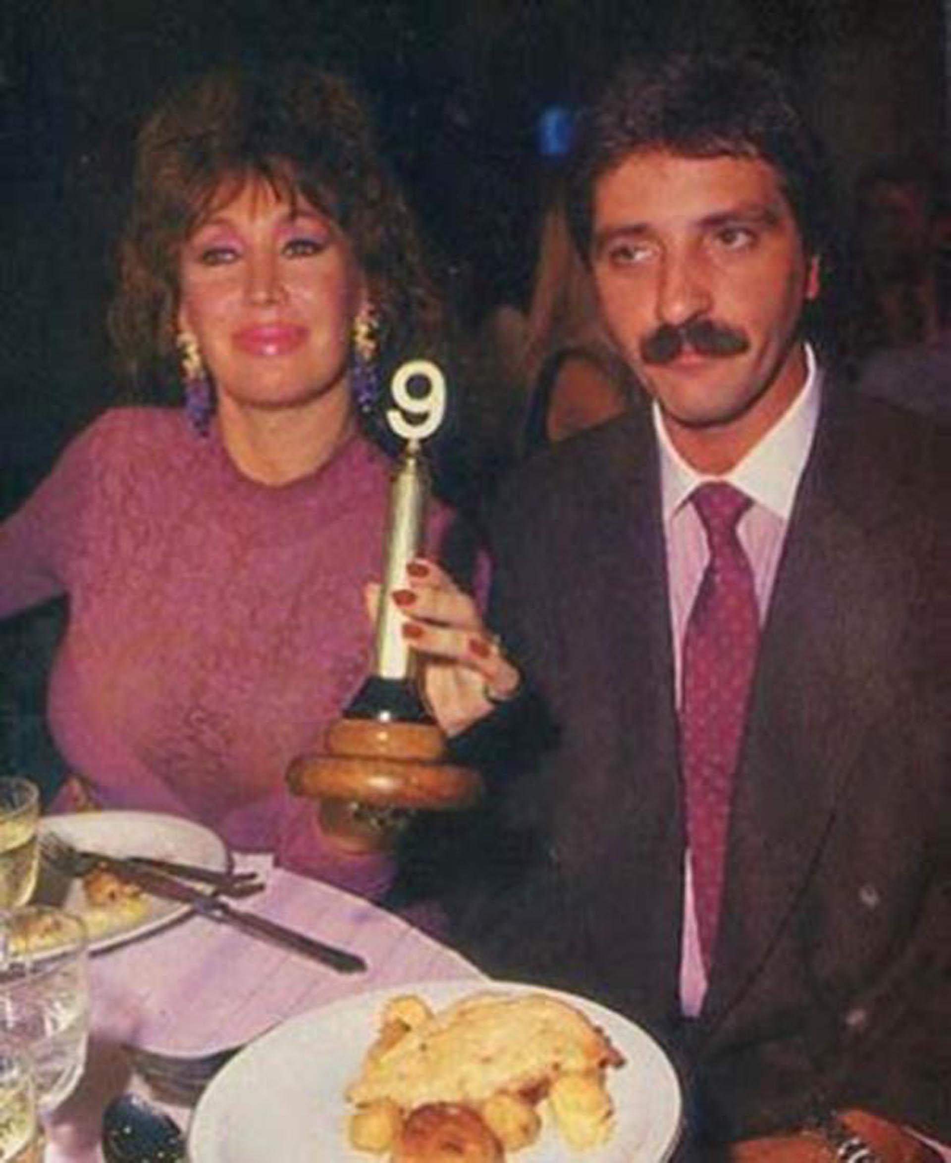 Moria Casán y Luis Vadalá. Fueron parejas más de diez años pero se separaron de manera conflictiva