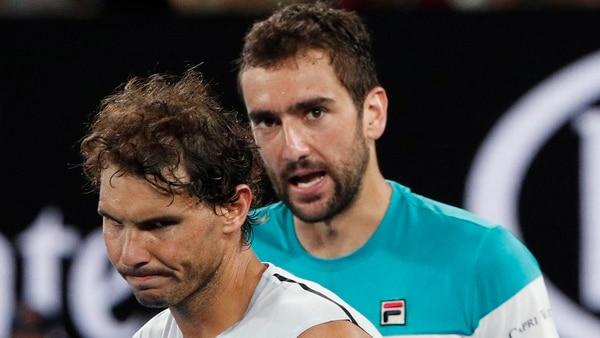 Marin Cilic tuvo un repudiable gesto con Rafael Nadal (REUTERS)
