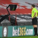 Soccer Football - Premier League - Sheffield United v Aston Villa - Bramall Lane, Sheffield, Britain - March 3, 2021 Referee Robert Jones reviews VAR before sending off Sheffield United's Phil Jagielka Pool via REUTERS/Clive Mason EDITORIAL USE ONLY. No use with unauthorized audio, video, data, fixture lists, club/league logos or 'live' services. Online in-match use limited to 75 images, no video emulation. No use in betting, games or single club /league/player publications. Please contact your account representative for further details.