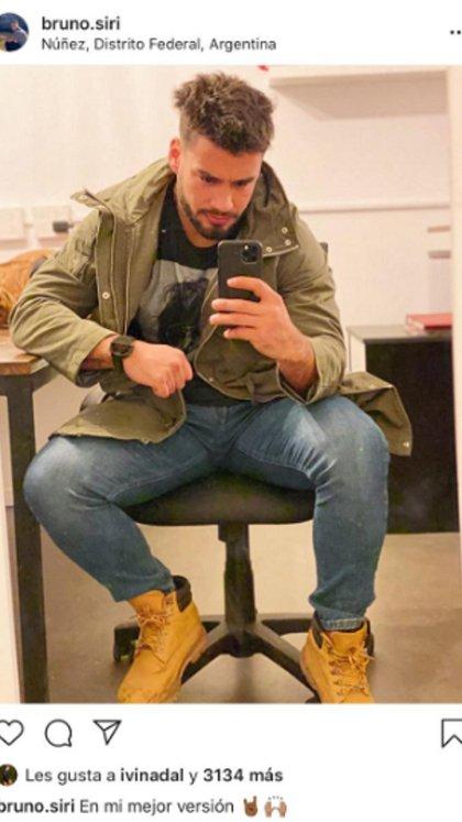 Antes de confirmar la relación, Ivana Nadal y Bruno Siri intercambiaban likes en las redes sociales