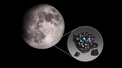 Nasa confirmó que hay más agua en la Luna de la que se creía (NASA)