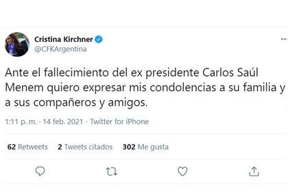 La despedida de Cristina Kirchner