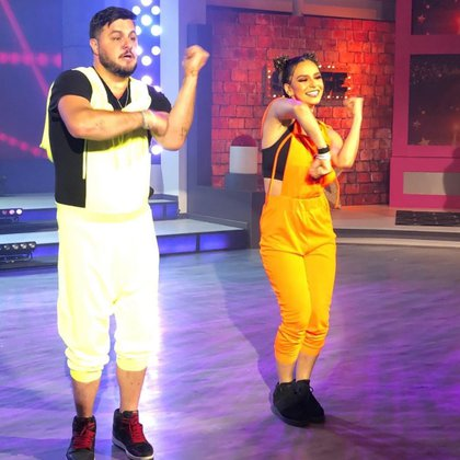 Paul Stanley y Tania Rincón recibieron fuertes críticas por su coreografía en 'Las Estrellas Bailan en Hoy'. (Foto: @programahoy/ Instagram)
