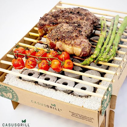 Cascus Grill es una parrilla biodegradable