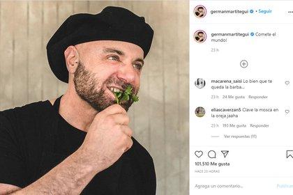 El posteo de Germán Martitegui (Instagram: @germanmartitegui)