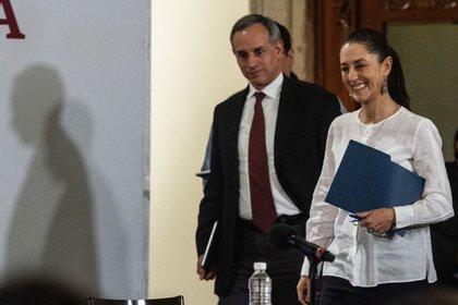 López-Gatell y Claudia Sheinbaum Pardo, jefa de Gobierno de la Ciudad de México (Foto: Cuartoscuro)