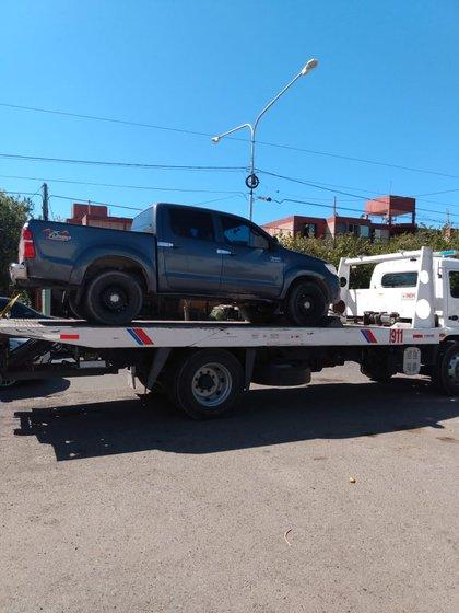 La camioneta fue secuestrada