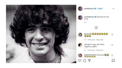 El posteo en Instagram de Santiago del Moro