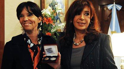 Cristina Fernández y Marcó del Pont en un evento social antes del gobierno de Mauricio Macri