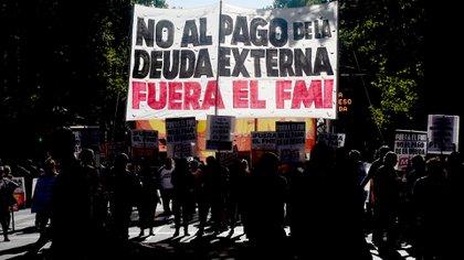 El acto de ayer contra el FMI contó con la presencia de delegados y de sindicatos que integran la CGT