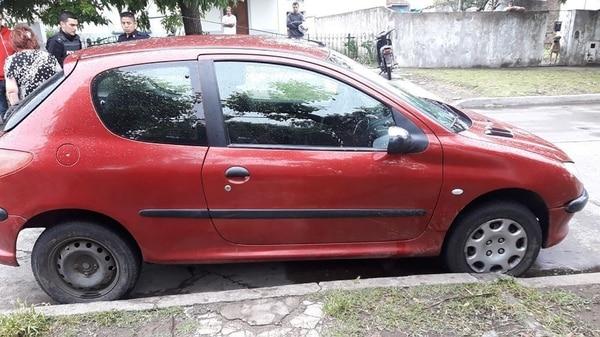 El auto con el que Yonatan Maurette atropelló a Nahuel Barragán
