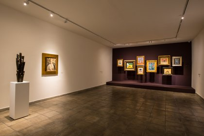 """El nombre de esta sala es """"El amor al arte: el gesto del coleccionista"""""""
