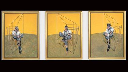 """En Christie's de New York, """"Tres estudios de Lucian Freud"""" (1969), alcanzó los 142,4 millones de dólares. (AP 163)"""