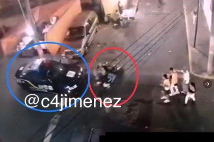 Las imágenes captaron cuando pasó enfrente de una patrulla (Foto: C4Jiménez)