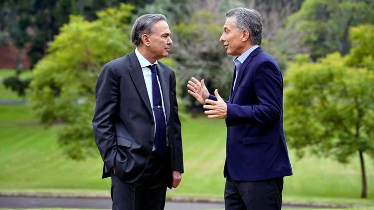 Mauricio Macri y Miguel Ángel Pichetto